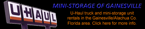 Advertisement Banner: Mini-Storage of Gainesville