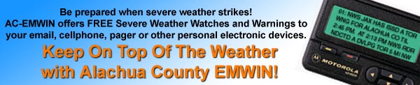 AC-EMWIN FREE Weather Bulletins To Your Email, Cell, or Pager!